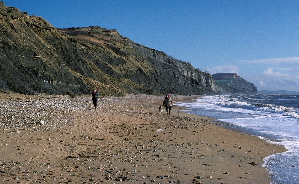 Charmouth, looking towards Golden Cap, Jurassic Coast World Heritage Site