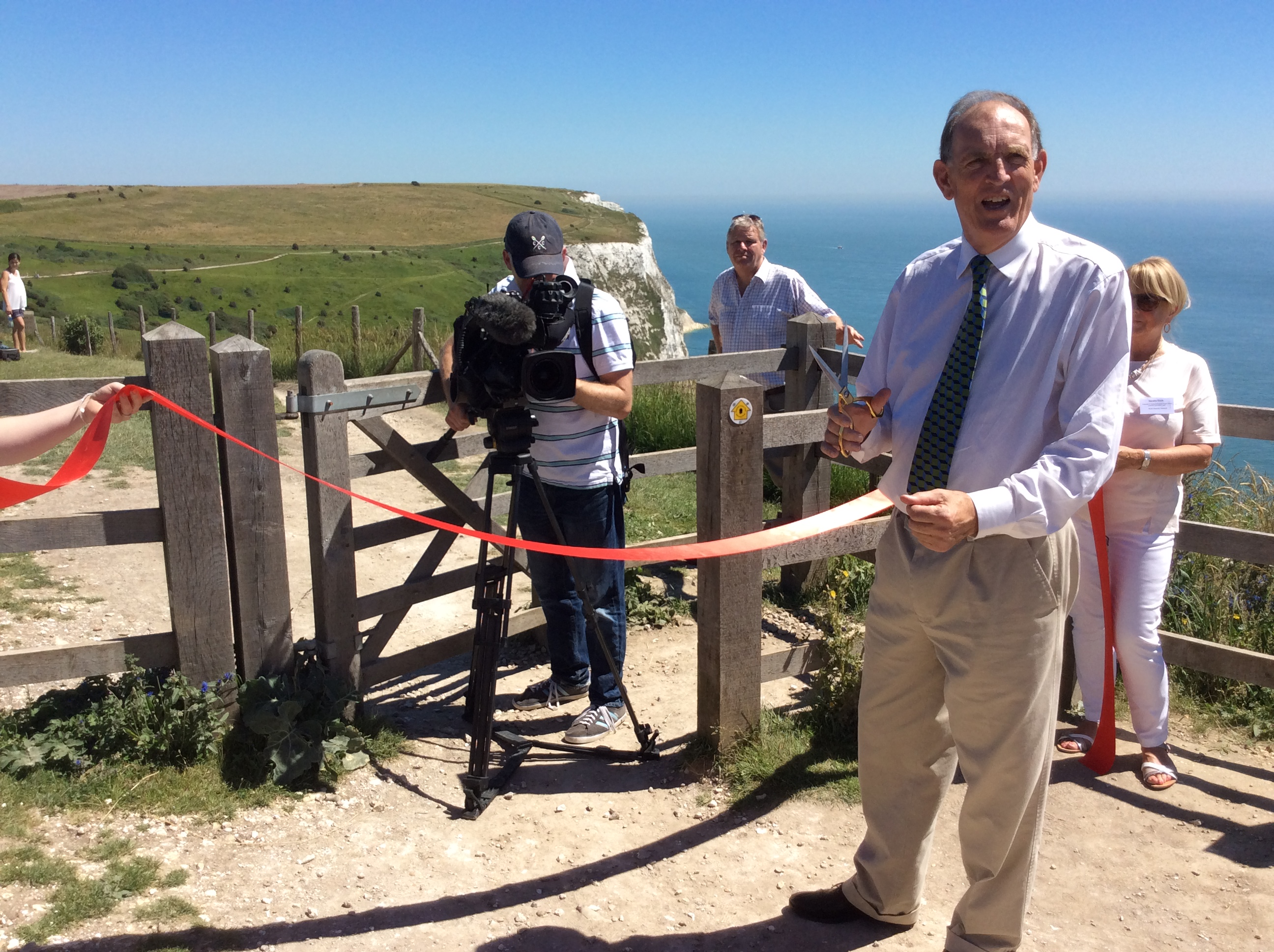 Chairman Andrew Sells opening the Kent Section of the England Coast Path