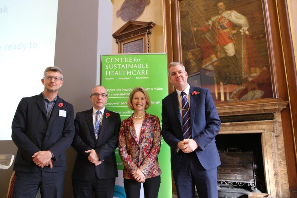From left to right: Gregor Henderson Director Wellbeing and Mental Health at Public Health England, Alistair Burns NHS Clinical Director for Dementia, Gina Radford Deputy Chief Medical Officer, and James Cross