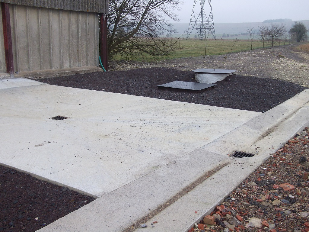 Sprayer fill/washdown area installed under CSF. Credit: Andrew Russell (Natural England).