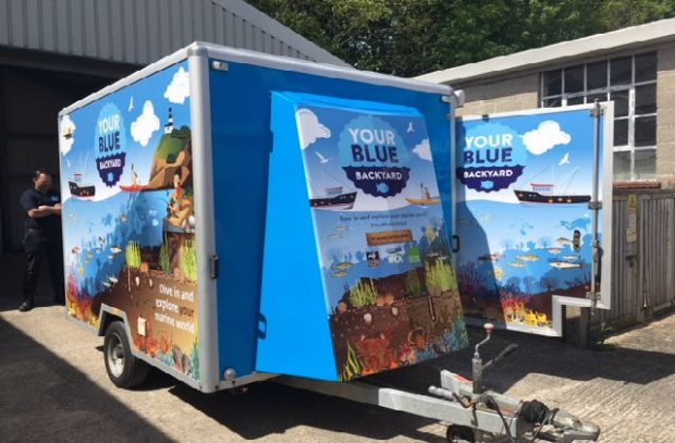 your blue backyard trailer.