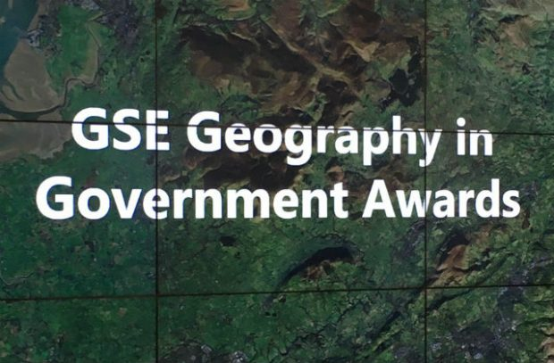 A banner which says GSE Geography in Government Awards